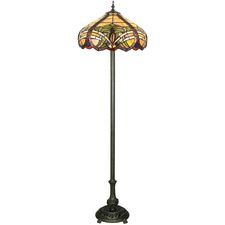 Baroque Tiffany-Style Floor Lamp