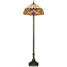 Ivory Victorian Tiffany-Style Floor Lamp