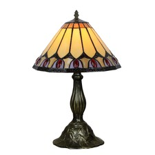 Peacock Tiffany Style Table Lamp