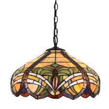 Baroque Tiffany-Style Pendant Light