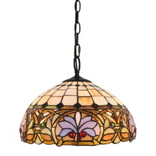 Ivory Victorian Tiffany-Style Pendant Light