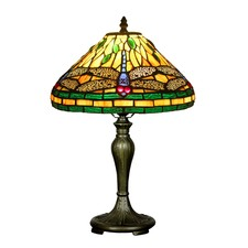 Dragonfly Tiffany-Style Table Lamp