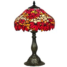 Tiffany One Light Table Lamp in Red
