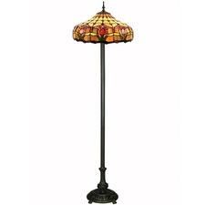 Tiffany Two Light Tulip Floor Lamp