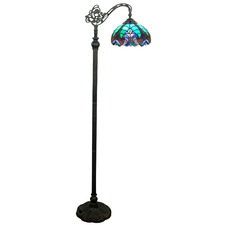 Victorian Stained Tiffany Glass Floor Lamp