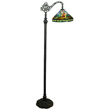 Sun Flower Tiffany Stained Glass Floor Lamp