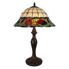 Floral Tiffany-Style 61cm Stained Glass Table Lamp