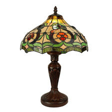 Vintage Garden Tiffany-Style 45cm Stained Glass Table Lamp