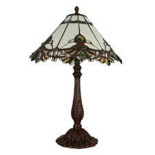 Secret Garden Tiffany-Style 66cm Stained Glass Table Lamp