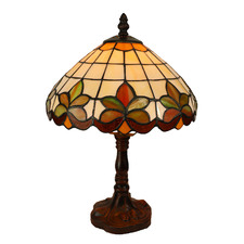 Miley Floral Tiffany-Style 35cm tained Glass Table Lamp