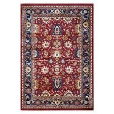 Red & Blue Oriental Potion Power-Loomed Rug