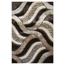 Brown Wave Grandeur Power-Loomed Rug