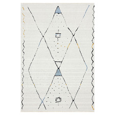 Cream Sketch Twilight Power-Loomed Rug