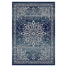 Navy Fade Barren Power-Loomed Rug