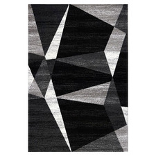 Black & Grey Mosaic Amore Power-Loomed Rug