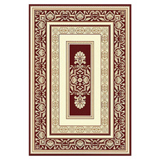 Cream & Red Embed Chateau Power-Loomed Rug