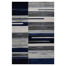 Grey & Blue Grain Sonny Power-Loomed Rug