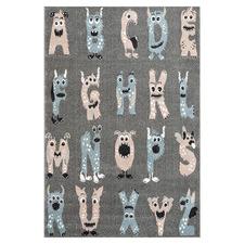 Grey Alphabet Playmore Kids' Rug