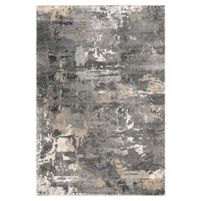 Grey Rouge Metro Power-Loomed Rug