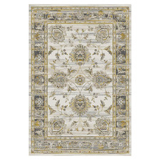 Gold & Grey Barren Power-Loomed Rug