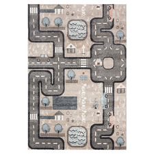Beige Road Playmore Kids' Rug