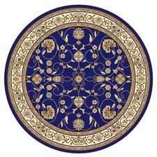 Blue Fleur Royal Round Rug