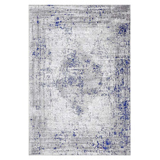 Blue & White Stretch Maxim Power-Loomed Rug