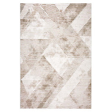 Beige Argyle Maxim Power-Loomed Rug