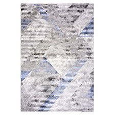 Blue Argyle Maxim Power-Loomed Rug
