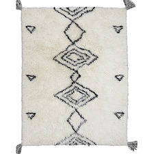White Shaggy Agadir New Zealand Wool Rug