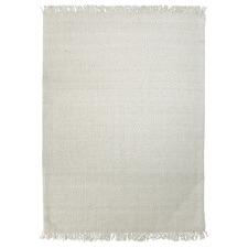Off White Munich Hand-Woven Wool Rug