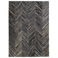 Charcoal Patchwork Cowhide Rug