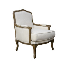 Ludwig Linen-Blend Accent Chair