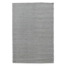 Grey & White Marrakesh Kilim Wool Rug