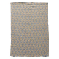 Grey Arrow Flat Weave Rug