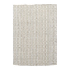White Honeycomb Flat Weave Cotton & Jute Rug
