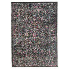 Anthracite & Pink Eastern Way Vintage-Style Rug