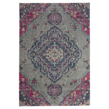 Grey & Pink II Eastern Way Vintage-Style Rug