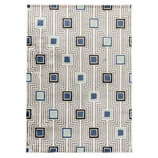 Grey & Blue Doux Power-Loomed Rug