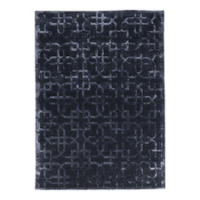 Black Gatsby Wool-Blend Area Rug