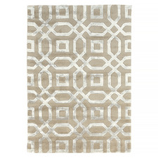 Beige Splendour Hand-Tufted Wool-Blend Rug