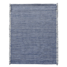 Blue Medina Fringed Wool-Blend Rug