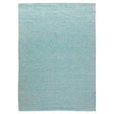 Turquoise Rustic Diamond Cotton & Jute Rug