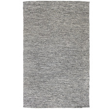 Black Lima Hand-Woven Cotton Rug