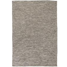 Brown Lima Hand-Woven Cotton Rug