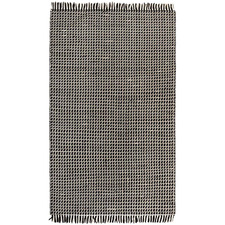 Black & White Cross Weave Hand-Knotted New Zealand Wool Rug