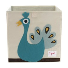 3 Sprouts Peacock Storage Box