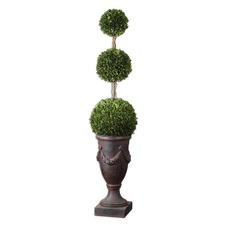 Preserved Boxwood Triple Botanical Topiary