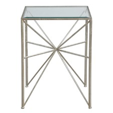 Silvana Square Glass Top Side Table