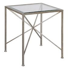 Silvana Metal & Glass Cube Table